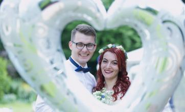 Love is in the air for the newlyweds Valentin and Corina