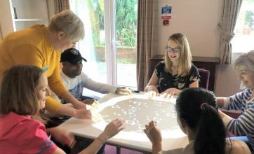 Hungerford Care Home, Berkshire-Playing musical games on our new Magic Table