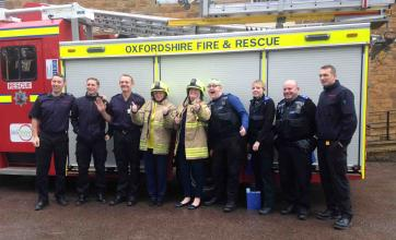 Glebefields Care Home says 'thank you' to our Oxfordshire 'Blue Light' professionals