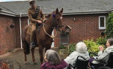 Hempton Field Care Home in Oxford have a charming visit from the Chinnor war horses