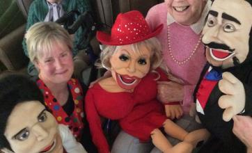 Angusfield House Care Home, Aberdeen. A puppet show. We enjoyed meeting the puppets