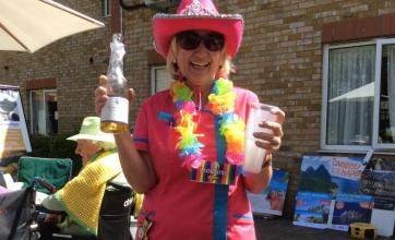 Residents at Emberbrook Care Home in Thames Ditton celebrate National Care Home Open Day