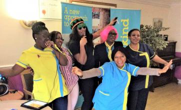 Uplands Care Home's singing and dancing has WOW Factor! - Team members enjoy entertaining residents with a song and dance!