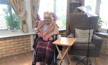 Residents enjoyed the chance to dress like royalty for the day
