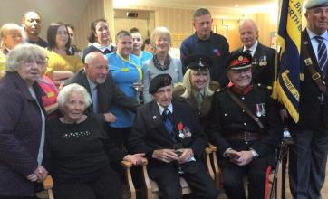 War Hero Eric receives Legion of honour at Cookridge Court Care Home