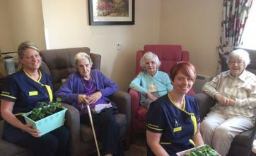 Cathy, Mia Pidden, Marjorie Gray, June Emerson and Rena Bradley celebrating International Nurses Day