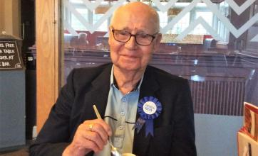 A very happy 90th birthday to John at Cookridge Court Care Home