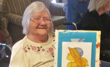 Residents at Elm Bank Care Home in Kettering get creative for National Care Home Open Day