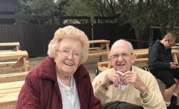 Mavis and Ron at Filey Bird Garden and Animal Park