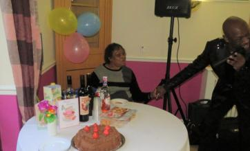 Uplands Care Home in Streatham celebrate Lynette's birthday