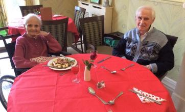 Residents Pam and Bill enjoying a romantic lunch together