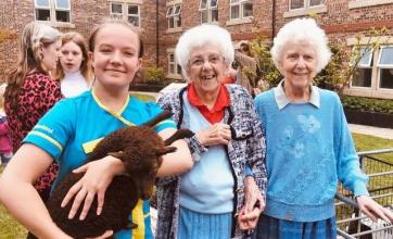 Residents at Scarborough Hall Care Home enjoy a summer fair festival