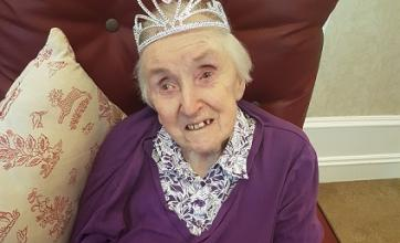 The royal wedding celebrations - Rita donning a tiara fit for a queen!