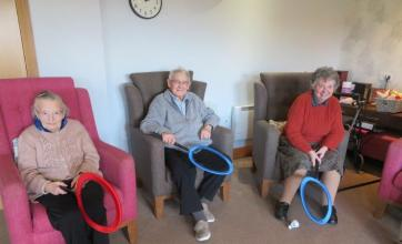 Westbury Court Care Home in Bath celebrate Sports Relief