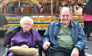 couple at Avery Lodge Care Home celebrate 65th anniversary at Grantham Fair