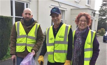 Ross Court Care Home in Herefordshire take part in the great British spring clean