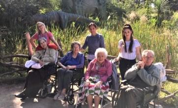 Springfield House Care Home, Staffordshire-Smiles in the sunshine on our trip out to West Midlands Safari Park