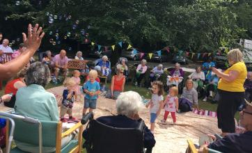 Our young friends from 'Rhythm Time' joined us at our picnic