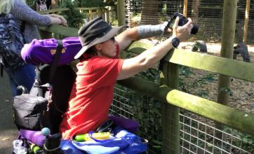 Sutton Valence Care Home, Kent-Adele photographing the animals at the zoo