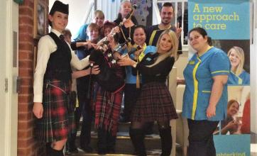 Charlotte House Care Home celebrate Burns Night with all things Scottish