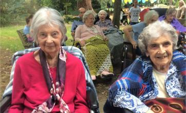 The Berkshire Care Home, Wokingham-Residents Jessie and Diane enjoying the jazz at our summer festival