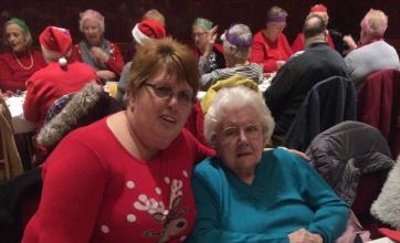 Maureen and Audrey at The Round Table's Christmas party