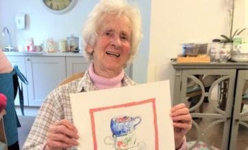 The Cedars Care Home Salisbury-Resident Zena with her teacup picture