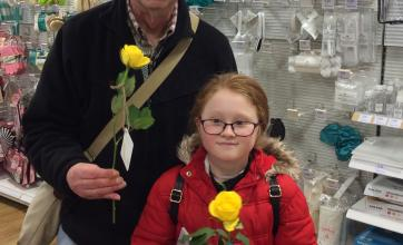 More happy shoppers with their brighterkind roses in Harrogate