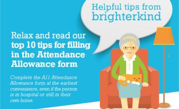 Top tips 2 Completing the Attendance Allowance form