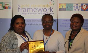 Uplands Care Home in Streatham Celebrating Gold Standard Framework Success