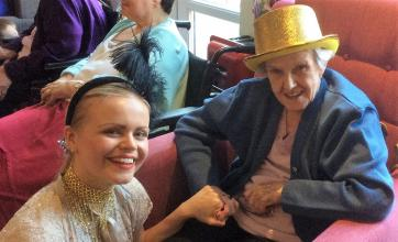 Dancer Bethany with resident Marjorie Gray