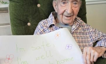 Woodbury House Care Home, Berkshire-Bernard's message to his family