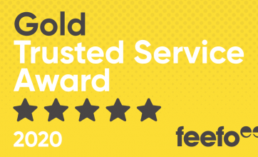 brighterkind feefo Gold Trusted Service Award 2020