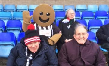 residents at Avery Lodge Care Home supporting Grantham FC