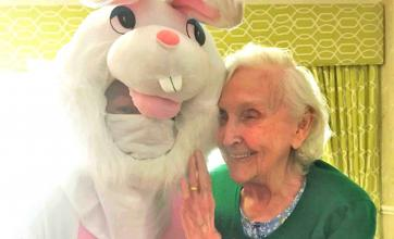 residents at Highfields care home in Edingley celebrate Easter