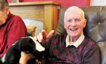 Animal visit to Scarborough Hall Care Home in North Yorkshire