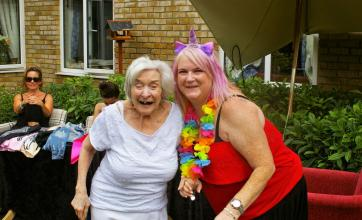 Residents at Emberbrook Care Home in Thames Ditton celebrate summer with a Party Festival