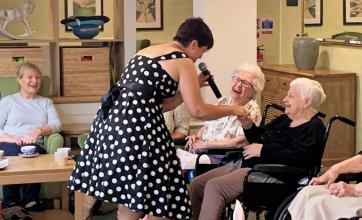 Residents at Ashurst Park Care Home in Tunbridge Wells celebrate National Care Home Open Day