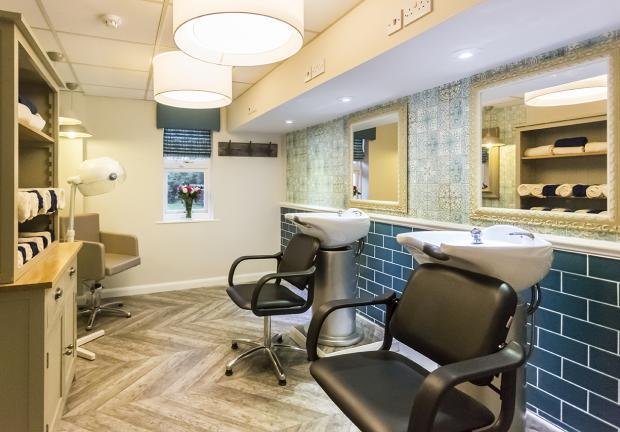 Dedicated hair salon at Charlotte House