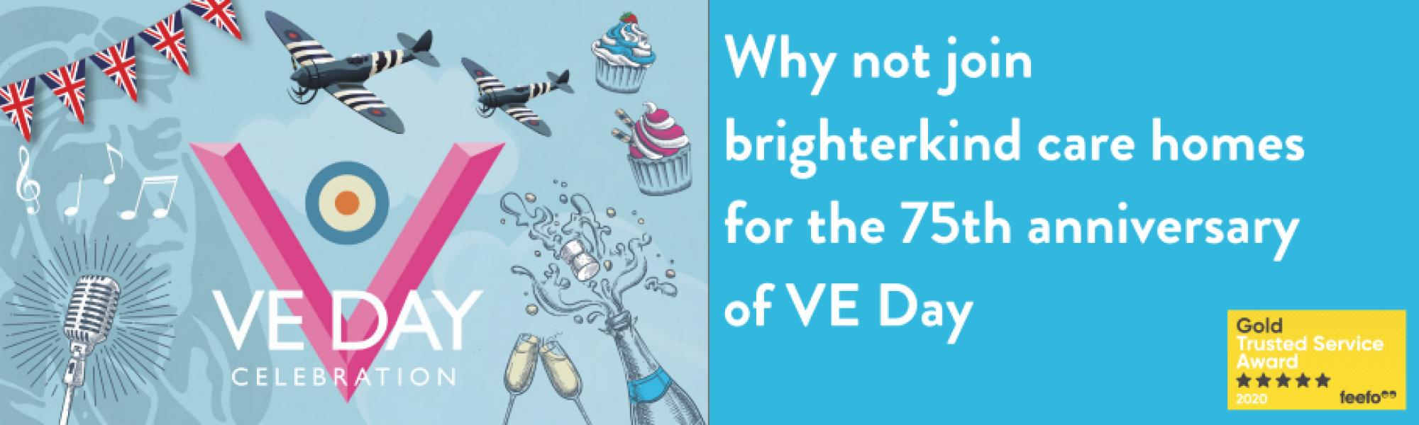 VE Day commemorative celebrations at brighterkind care homes