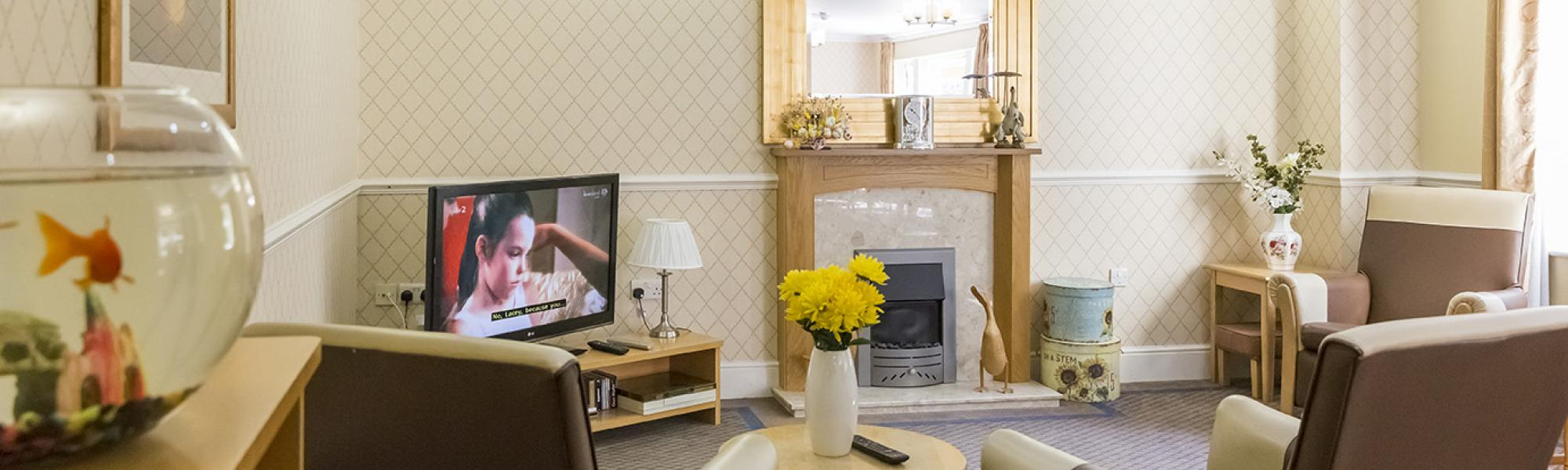 Living Rooms At Cookridge Court. Brighterkind Cookridge Court Care Home In  West Yorkshire