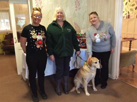 Highfields Care Home make Christmas donations to Jerry Green Dog Rescue