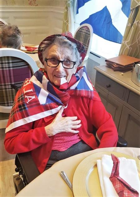 A bonnie day for Angusfield House Care Home celebrating St Andrew's Day