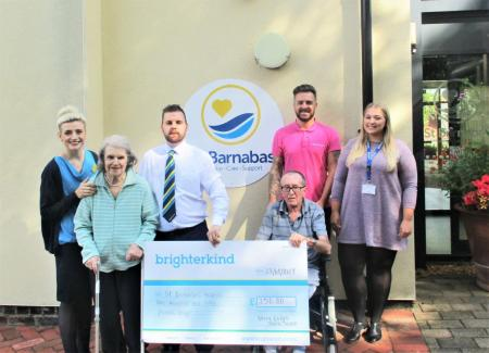 Avery Lodge Care Home support local Grantham charity, St Barnabas hospice