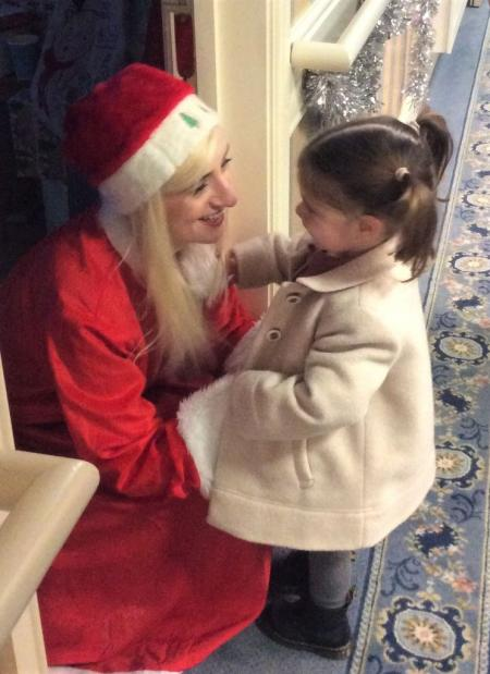 Avery Lodge Care Home, Lincolnshire-Mrs Christmas aka team member Hattie with her niece Myla