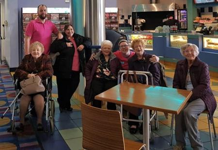 Broadway Halls Care Home, Dudley-Residents and team members ready to go flying with Dumbo!