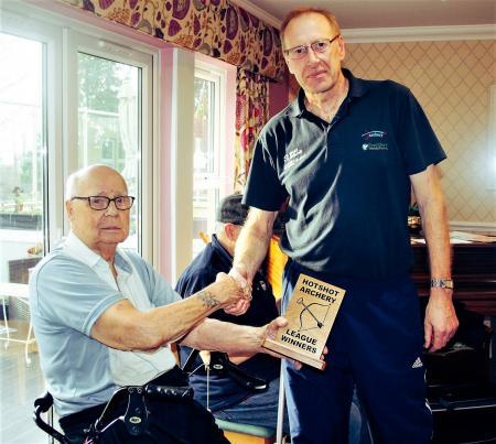 Resident John with Hotshot Archery Coach Colin Fairburn