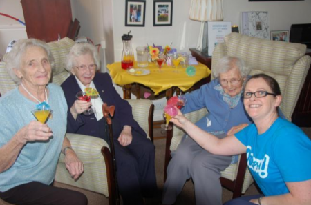Cossins House residents enjoy Hydration Week