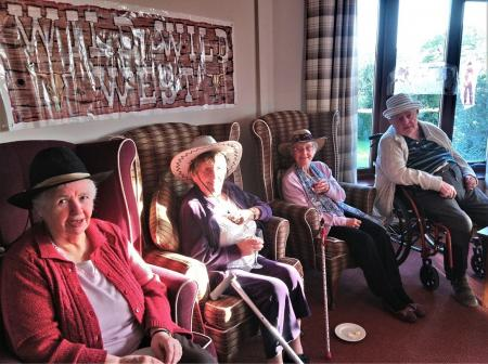 Crabwall Hall Care Home, Chester-Howdy Partners! Our residents Gladys, Mary, Jean and Cliff in the Wild West