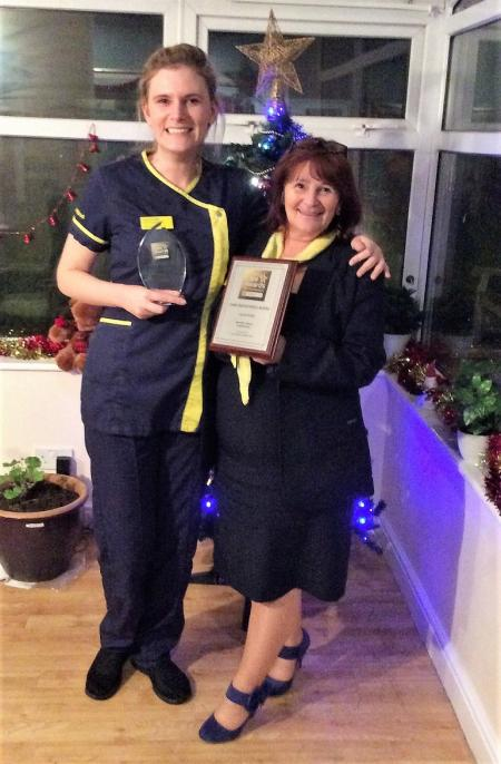 Our award winning Laura Smith pictured with Home Manager Michelle Poole